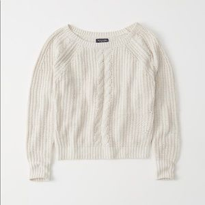Abercrombie & Fitch Cable Knit Boat Neck Sweater